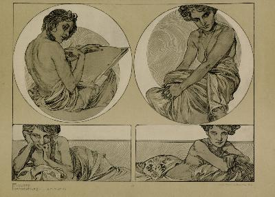 Aphonse MUCHA - FIGURES DECORATIVES