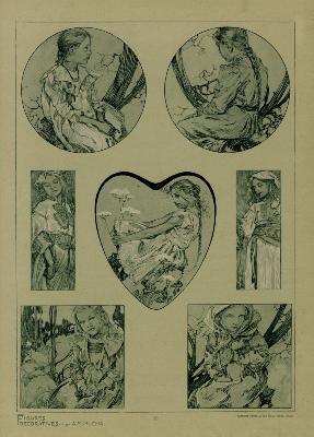 MUCHA - FIGURES DECORATIVES