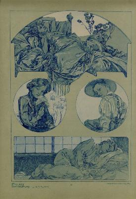 Alphonse MUCHA - FIGURES DECORATIVES